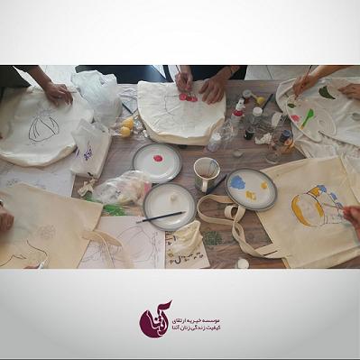 برگزاری کارگاه نقاشی روی پارچه